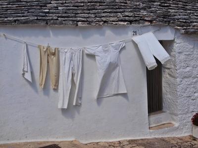 Wäschet rocknen in Alberobello
