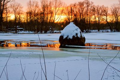 Winterlandschaft im Spreewald