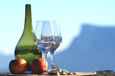 Wein & Apfel hoch über Meran
