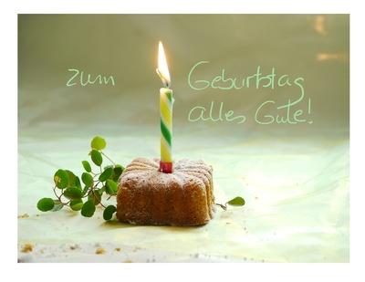 zum Geburtstag . . .