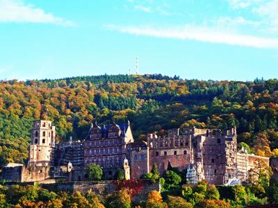 herbstliches Schloss Heidelberg