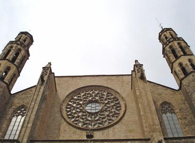 Fischerkirche `Santa Maria del Mar` in Barcelona