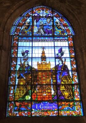 Fenster der Kathedrale von Sevilla 1
