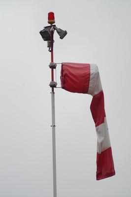 Windsack mit Hubschrauber Locklampe