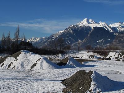 Wintereinzug im Wallis