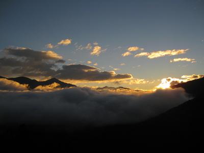 Sonnenaufgang über dem Pustertal