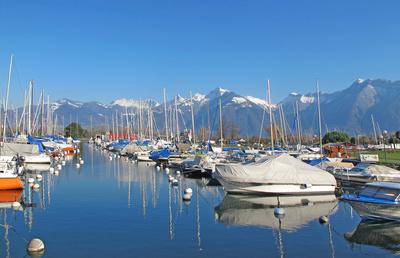 Bouveret - Winterruhe im Hafen