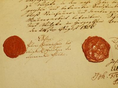 Alte Urkunde