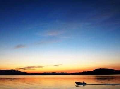 Nachtstimmung am Fjord