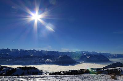 Wunder-Winter über Nebelmeer