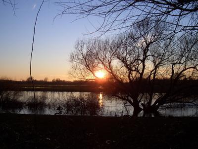 Sonnenuntergang in Verden-Aller