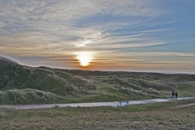 Dünenlandschaft mit Sonnenuntergang - Nordseeinsel Langeoog