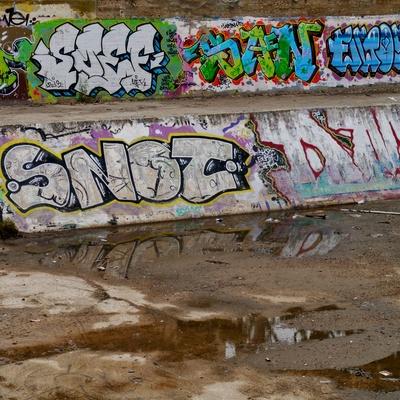 Graffiti an einer Mauer