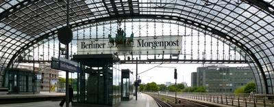 Berliner Hauptbahnhof, Glasfront von innen