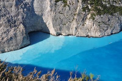 Türkisfarbenes Meer auf Zakynthos