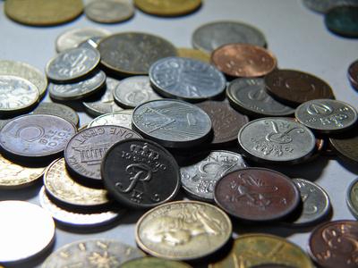 Diverse Münzen, alte und aktuelle