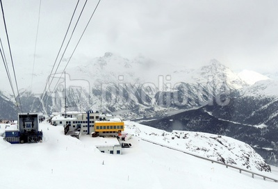 Das Skigebiet Corviglia-Marguns-Piz Nair
