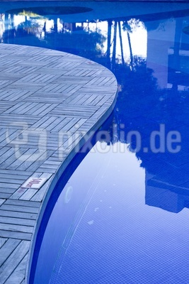 blaue Pool-Lagune