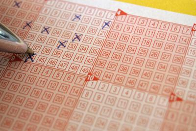 Lottoschein Ausschnitt