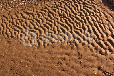 Wellenstruktur am Sandstrand