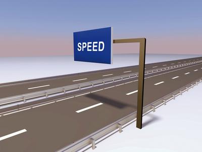 Autobahn Straße Speed 3D