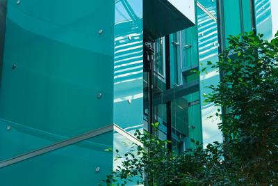 Natur und Technik (Glas, Aufzug)