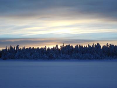 Schweden - Sonnenuntergang in Lappland