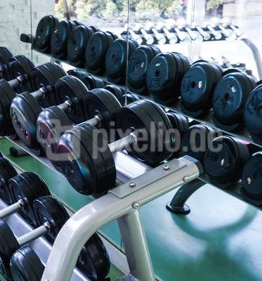 Im Fitness-Studio (Hanteln)