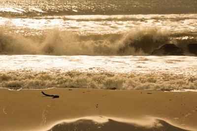 stürmische See (beige,quer) 2