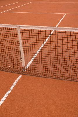 Tennisplatz (Sand) mit Markierung 3