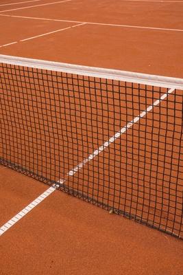 Tennisplatz (Sand) mit Markierung 5