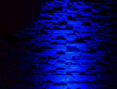 Relief-Wand nachtblau