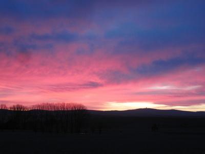Sonnenaufgang über dem Feldberg
