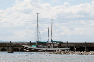 Fischerei-Trawler am Bodensee
