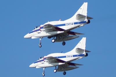 Rotte A-4 Skyhawks im Vorbeiflug
