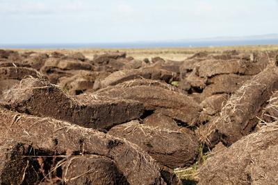 Torf Feld Schottland