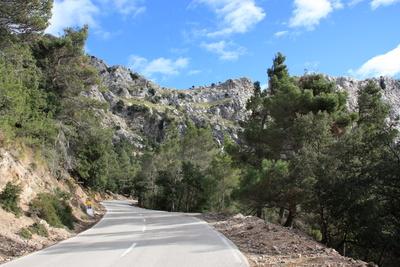 Gebirgsstraße auf Mallorca