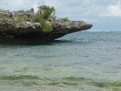 Vulkanfels-Spitze am Nusa Dua Beach