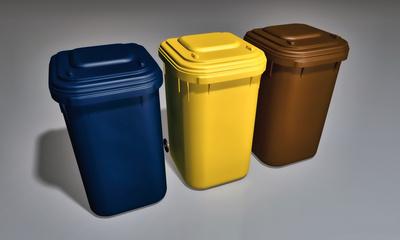 3 Mülltonnen