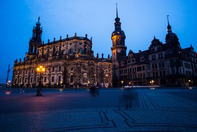 Dresden - Theaterplatz bei Nacht