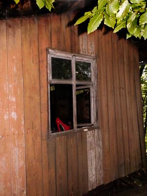 Schuh im alten Bienenhaus ...