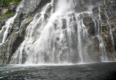 prächtiger Wasserfall in Norwegen