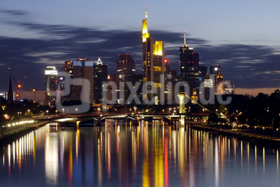 Frankfurter Skyline am Main