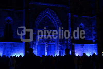 Lorenzkirche in blau 2