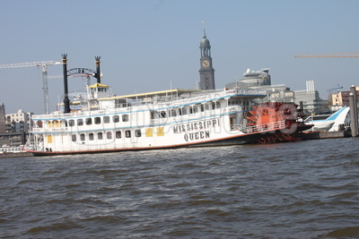 "Hamburger Hafen mit Raddampfer ""Louisiana Star"""