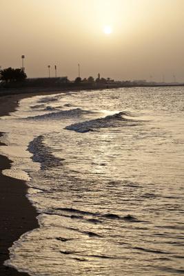 Sonnenuntergang an der Straße von Hormus
