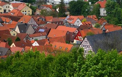 Die Dächer von Königsberg/Unterfranken