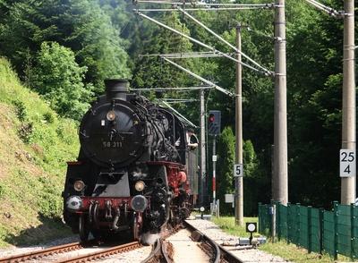 dampflokomotive   58 311 eine echte rarität...