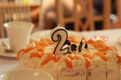 Torte zum 2. Geburtstag