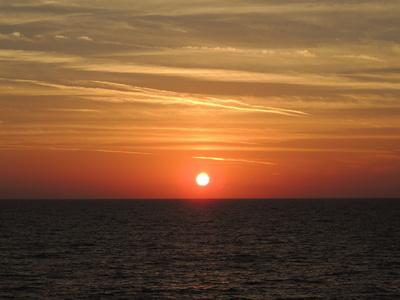 Wenn die Sonne im Meer versinkt....